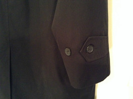 Black All Weather Trench Coat Size 46 Short Thermolite Insulating Lining image 7
