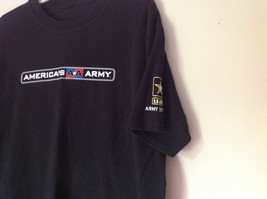 Black Army T Shirt Americans Army  No Tag Army Strong on Sleeve Gray Troops image 2