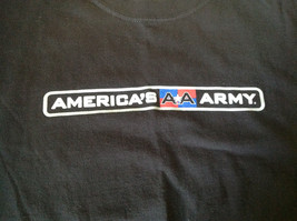 Black Army T Shirt Americans Army  No Tag Army Strong on Sleeve Gray Troops image 6