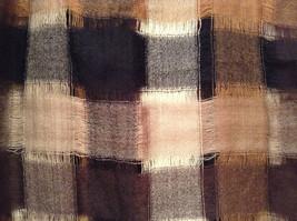 Black Brown Beige Tan Plaid Fashionable Scarf Wrap Shawl Length 42 Inches image 5