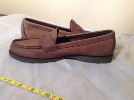 Vibram Size 8 and a Half Brown Hand Sewn in USA Penny Loafers  Half Inch Heel image 2