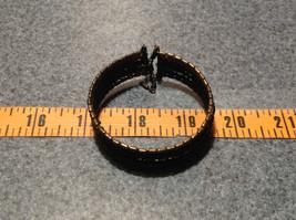Black Beaded Bracelet Steam Punk Black and Metal Beads image 3
