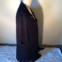 Black Cardigan Short Sleeves Blue Tank Top All In One Very Fashionable Size XL image 6