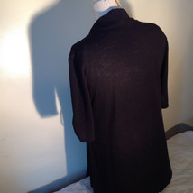 Black Cardigan Short Sleeves Blue Tank Top All In One Very Fashionable Size XL image 9