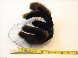 Vintage Ladies' headpiece with velvet and black fur image 6