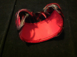 Vintage Ladies Hat Dark Gray Pink/Hot Pink Feathers with Pink Bow 13 Inches image 8