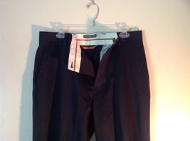 Black DOCKERS D3 Pleated Dress Pants Zipper Button Closure Size 33 by 32 image 2