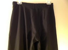 Black Dress Pants by Banana Republic Wide Bottoms Good Condition Size 4 image 5
