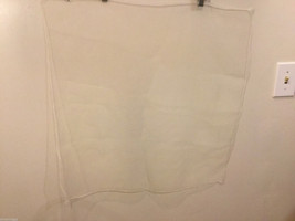 Vintage Square Lightweight White Sheer Scarf 100% Nylon image 3