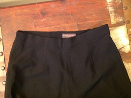Black Dress Pants by Banana Republic Wide Bottoms Good Condition Size 4 image 6
