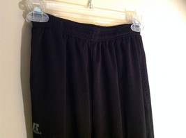 Black Dri Power Gym Pants Elastic Waistband with Drawstring by Russell Size S image 2