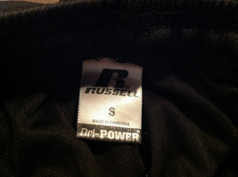 Black Dri Power Gym Pants Elastic Waistband with Drawstring by Russell Size S image 9