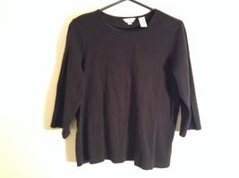 Black Covington Stretch Three Quarter Length Sleeves Sweater Size 16 to 18W image 2