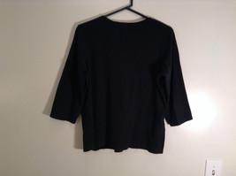 Black Covington Stretch Three Quarter Length Sleeves Sweater Size 16 to 18W image 4