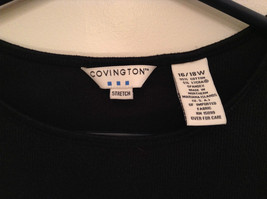 Black Covington Stretch Three Quarter Length Sleeves Sweater Size 16 to 18W image 3