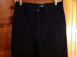Black Corduroy 4 Pocket Pants by Savile Row Button Zipper Closure Size 32 x 30 image 2