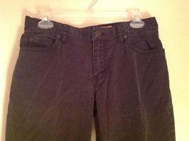 Black Five Pocket Boot Cut Jeans Eddie Bauer Made in Thailand Size 6P image 2