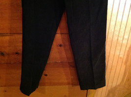 Black Corduroy 4 Pocket Pants by Savile Row Button Zipper Closure Size 32 x 30 image 3