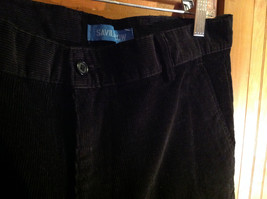 Black Corduroy 4 Pocket Pants by Savile Row Button Zipper Closure Size 32 x 30 image 4