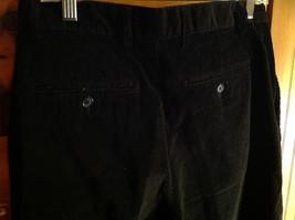 Black Corduroy 4 Pocket Pants by Savile Row Button Zipper Closure Size 32 x 30 image 5