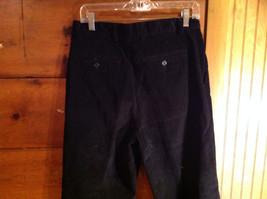 Black Corduroy 4 Pocket Pants by Savile Row Button Zipper Closure Size 32 x 30 image 6