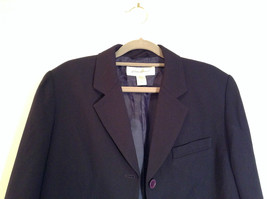 Black Fully Lined Eddie Bauer 100 Percent Wool Blazer Jacket Size 8 image 3