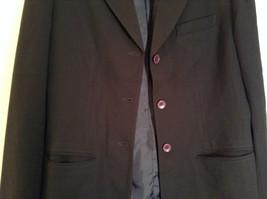 Black Fully Lined Eddie Bauer 100 Percent Wool Blazer Jacket Size 8 image 4
