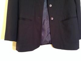 Black Fully Lined Eddie Bauer 100 Percent Wool Blazer Jacket Size 8 image 5