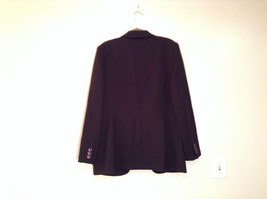 Black Fully Lined Eddie Bauer 100 Percent Wool Blazer Jacket Size 8 image 6
