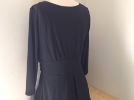 Black Formal Dress Three Quarter Length Sleeves Belt with Buckle Bling Size 10 image 7
