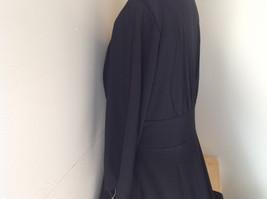 Black Formal Dress Three Quarter Length Sleeves Belt with Buckle Bling Size 10 image 8