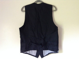 Black Formal Vest with Gray Lining Front Pockets 5 Button Closure V Neck NO TAG image 5