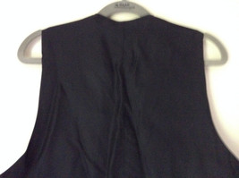 Black Formal Vest with Gray Lining Front Pockets 5 Button Closure V Neck NO TAG image 6