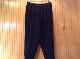 Black Giorgio Saint Angelo 100 Percent Wool Dress Pants Zipper Buttons Closure image 2