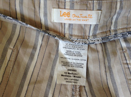 White Light Brown Blue Striped Casual 100 Percent  Cotton Shorts by Lee Size 16M image 8