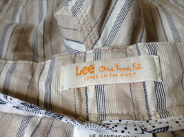 White Light Brown Blue Striped Casual 100 Percent  Cotton Shorts by Lee Size 16M image 10