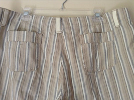 White Light Brown Blue Striped Casual 100 Percent  Cotton Shorts by Lee Size 16M image 7