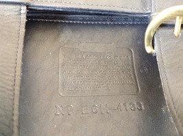 Black Handle Purse Real Leather Handcrafted 2 Inner Pockets Excellent Condition image 6