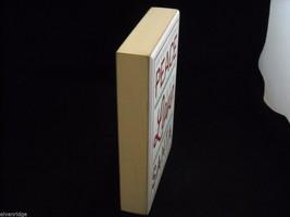 "White Wooden Box Sign ""Peace Love Santa"" in Red Glitter Christmas Decor image 7"