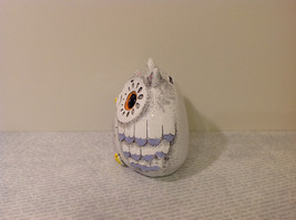 White Piggy Bank Owl New Hearts On Front Light Violet Feathers image 4