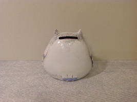 White Piggy Bank Owl New Hearts On Front Light Violet Feathers image 2