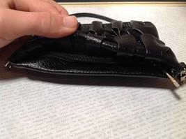 Black Half Bow Clutch Bag with Zipper Closure Mountain Mama Long Shoulder Strap image 5
