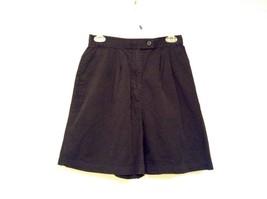 Black IZOD 100 Percent Cotton Casual Shorts Size 10 Partial Elastic Waistband image 2