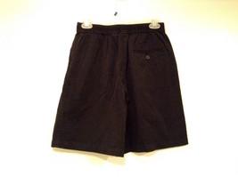 Black IZOD 100 Percent Cotton Casual Shorts Size 10 Partial Elastic Waistband image 4