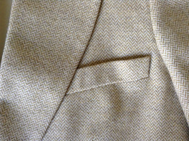 White and Light Brown Design Suit Jacket Blazer by Banana Republic Size 6 image 9