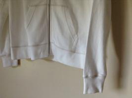 White Zip Up Long Sleeve Sweatshirt LOVE North Carolina RS For her Size Large image 5