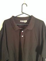 Black King Size 100 Percent Cotton Short Sleeve Tall Polo Shirt Size XXXL image 2