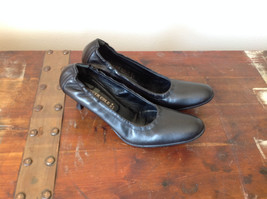 Black Kenneth Cole Shoes High Heels Leather Outside Excellent Condition Size 37 image 2