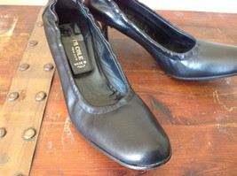 Black Kenneth Cole Shoes High Heels Leather Outside Excellent Condition Size 37 image 3