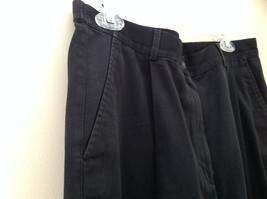 Black L L Bean Pleated Dress Work Pants 3 Pockets Button Zip Closure Size 14 image 3